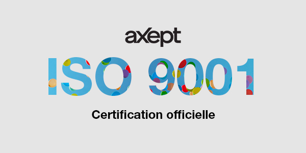 Certification ISO 9001 pour aXept