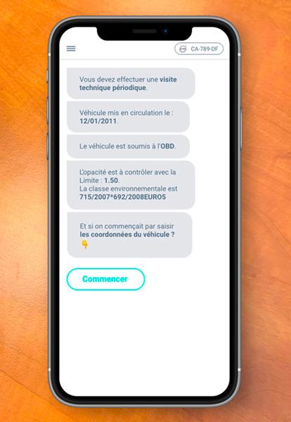 Application mobile Autosoft pour contrôle technique